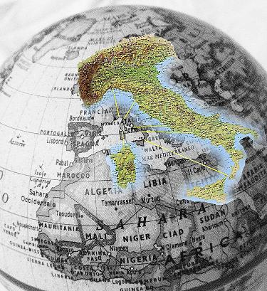 Italia nel globo